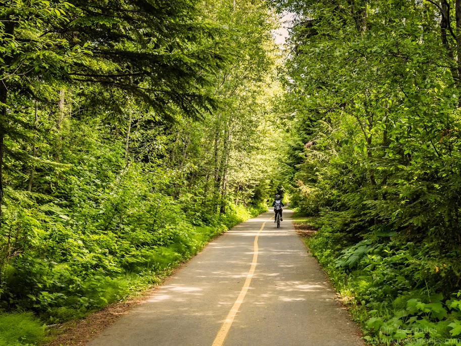 Biking through the Valley Trail