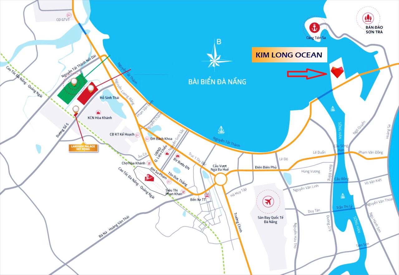 Vị trí dự án Kim Long Ocean Đà Nẵng