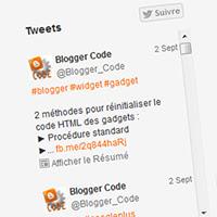 Blogger Code - Twitter : Timeline intégrée [Embedded Timelines]