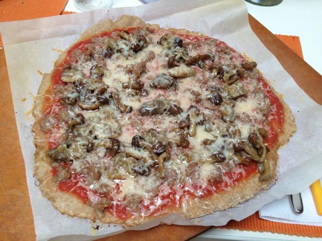 non la solita pizza: boscaiola di farro integrale!
