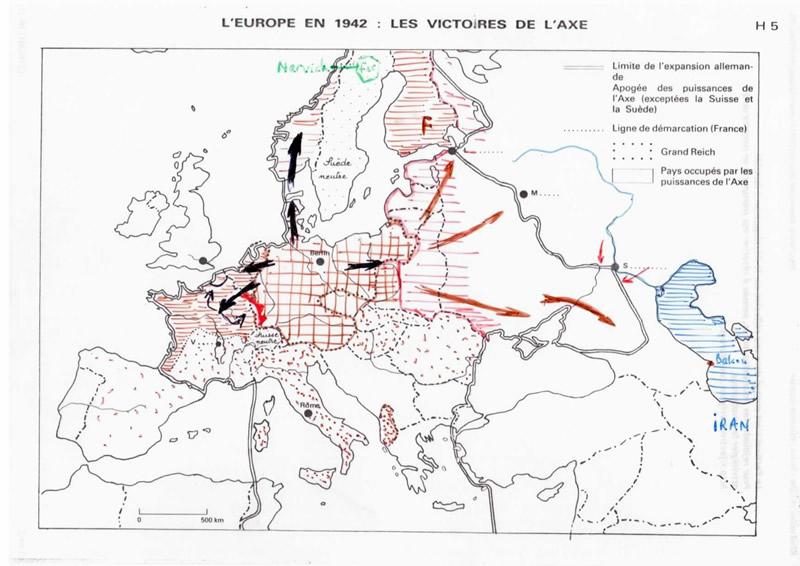 Carte De Leurope Occupee.2 Partie Les Victoires De L Axe 1939 1942 Jean Pierre