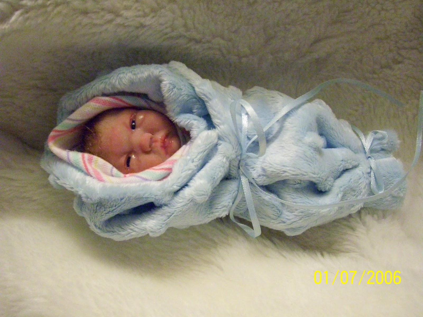 Belinda ferrells polymer clay ooak babies ooak bunting baby