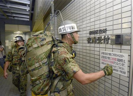 「迷彩服を区民に見せるな」自衛隊の防災演習で東京の11区が庁舎立ち入り拒否