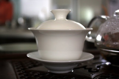 Tea cup with cover at Teanamu Teahouse in Notting Hill London