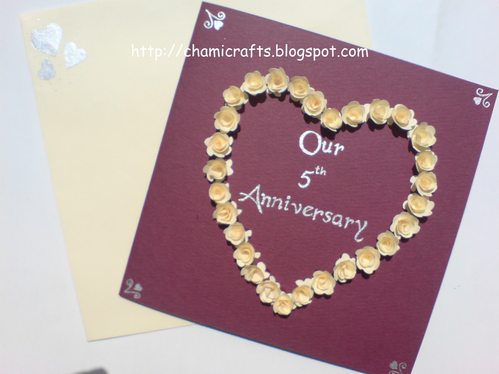 Chami crafts handmade greeting cards: anniversary card..