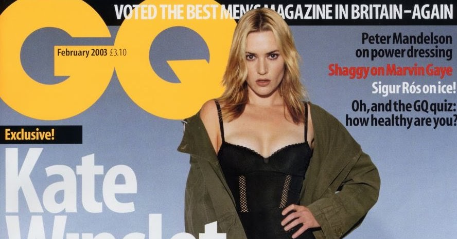 Magazines Update: GQ UK February 2003 Kate Winslet