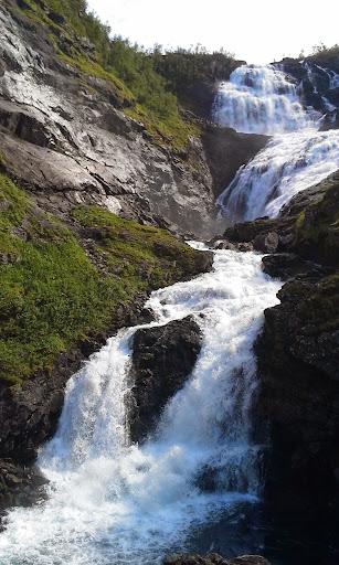 waterfall on Myrdal to FLam route
