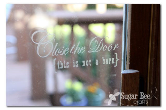 Etched Glass Vinyl - door sign