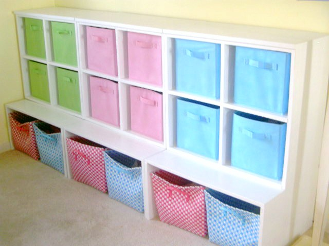 New Bookcase Toy Box White Finish Bedroom Playroom Child: DIY Storage Cubbies
