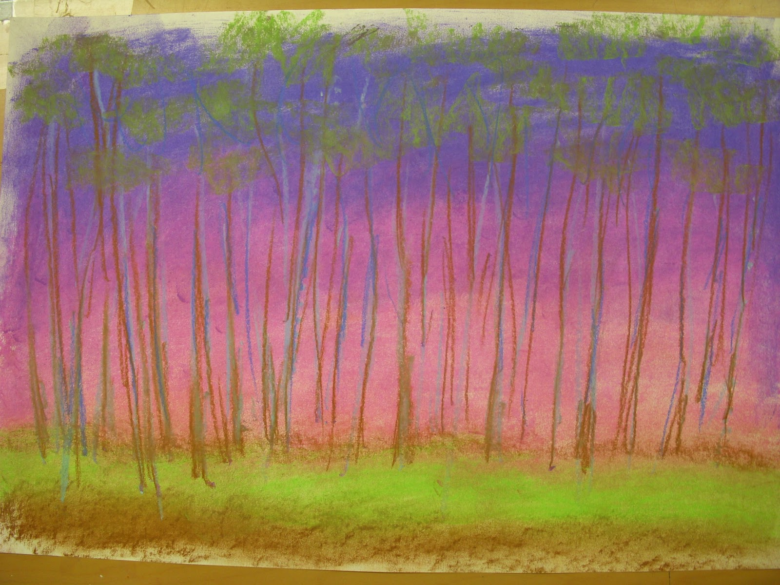 artastic miss oetken s artists wolf kahn analogus color family pastel