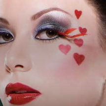 Maquiagem artística - corações