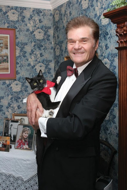 Fred Willard and a cat