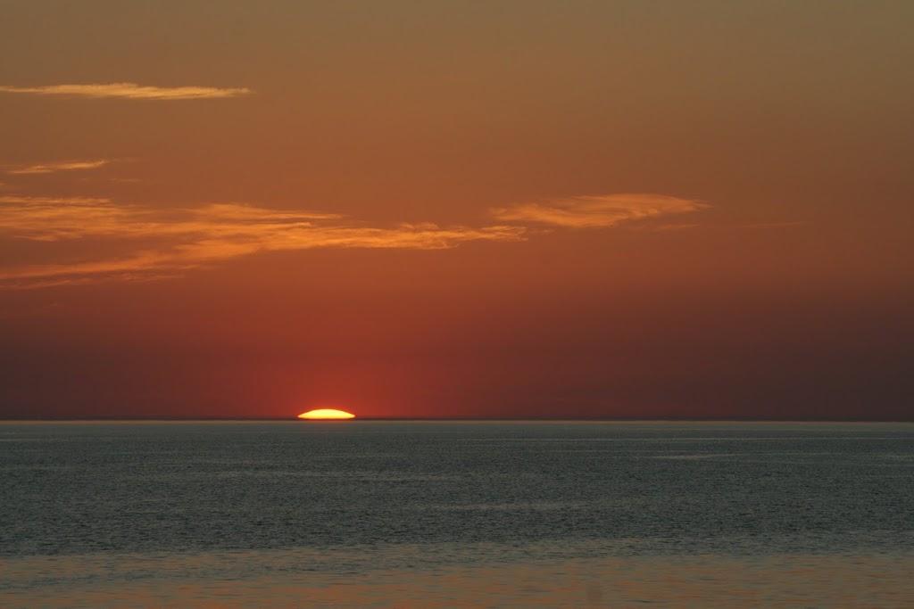 Закат, Казахстан, Каспийское море, Актау