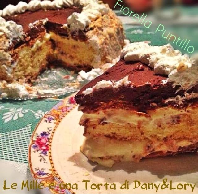 torta diplomatica con ganache al cioccolato