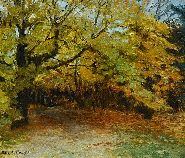 Peder Severin Krøyer - Autumn Forest at Skagen (1908)