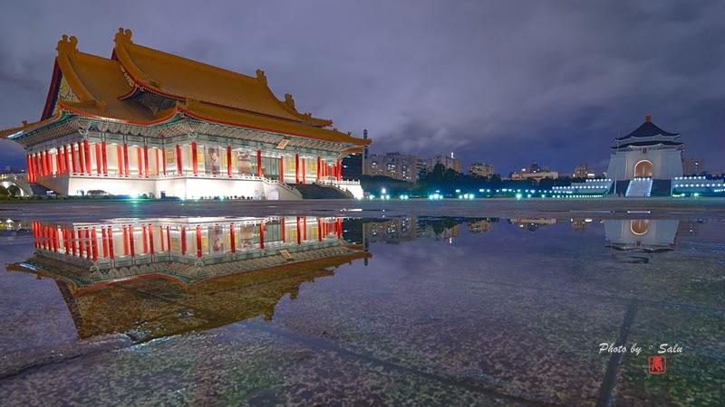 台北 中正紀念堂 倒影 國家音樂廳 國家戲劇院 夜景 攝