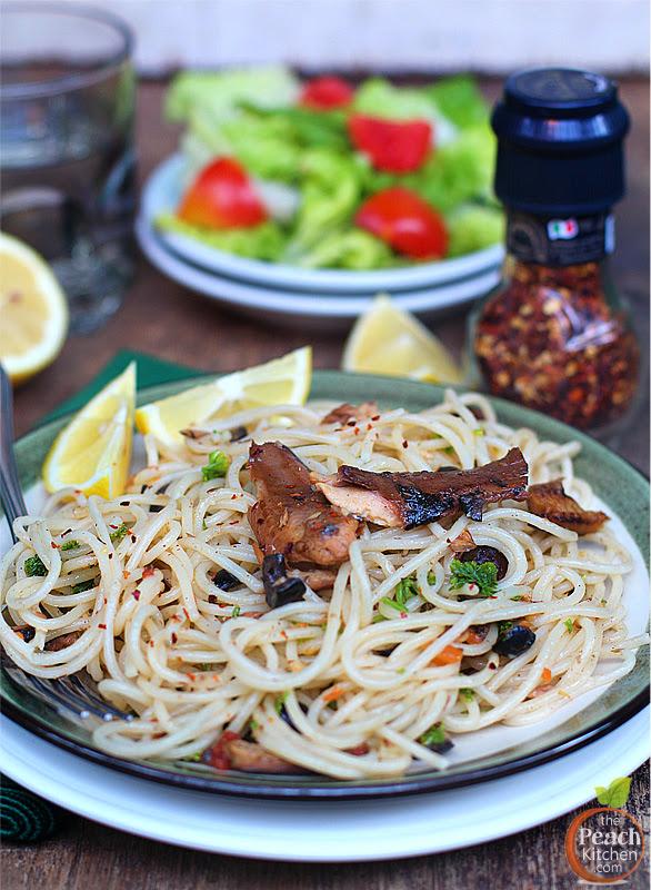 Tinapa Spaghetti | www.thepeachkitchen.com