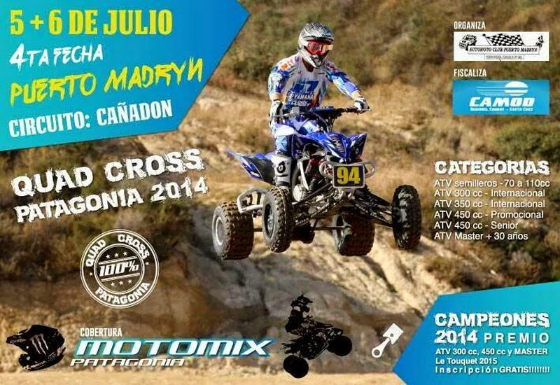 Quad Cross Patagonia en Madryn.
