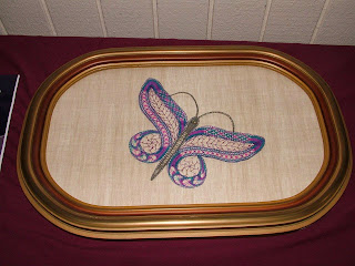 Dorothy plans to mount her butterfly on this frame. Great choice!