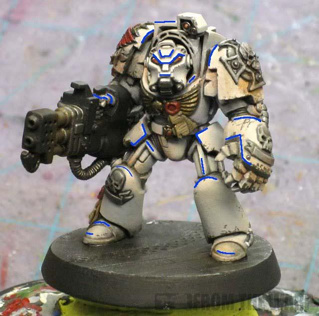 Painting Worn Metal Warhammer
