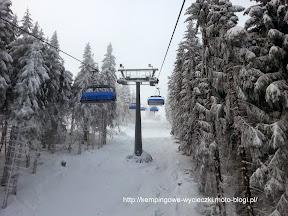 na zdjeciu wyciąg Skyway Express, Zieleniec na narty