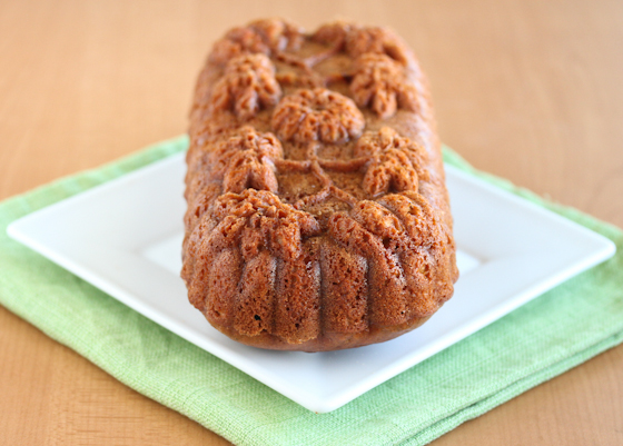 photo of a loaf of pumpkin bread