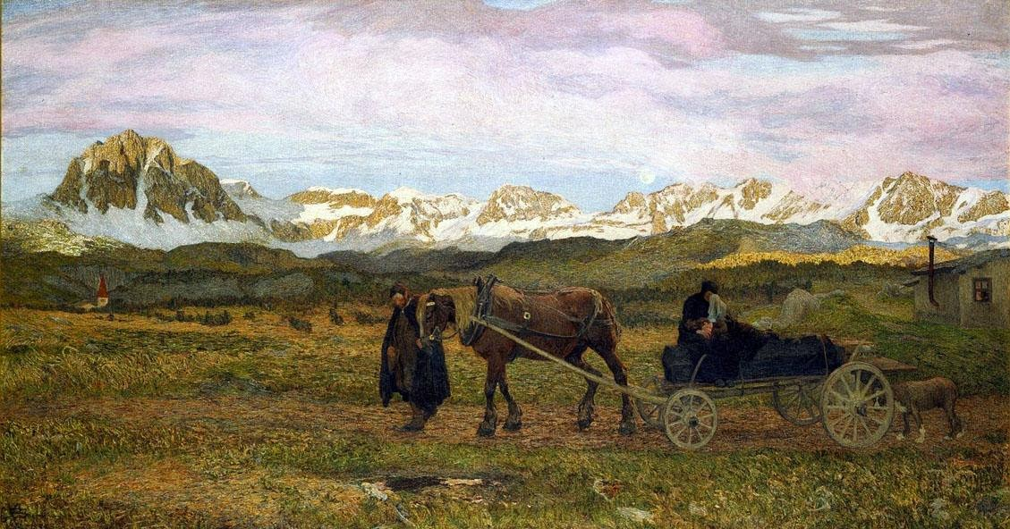 Giovanni Segantini - The Last Journey (Return to Native Soil)