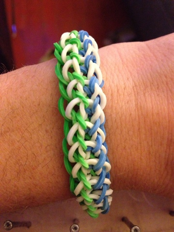 band triple homemade hoosierhomemade hoosier bracelet fishtail a on how directions make rubber to com rubberband