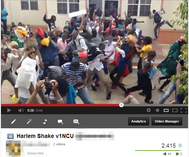 Students at Northern Caribbean University dance the Harlem Shake.