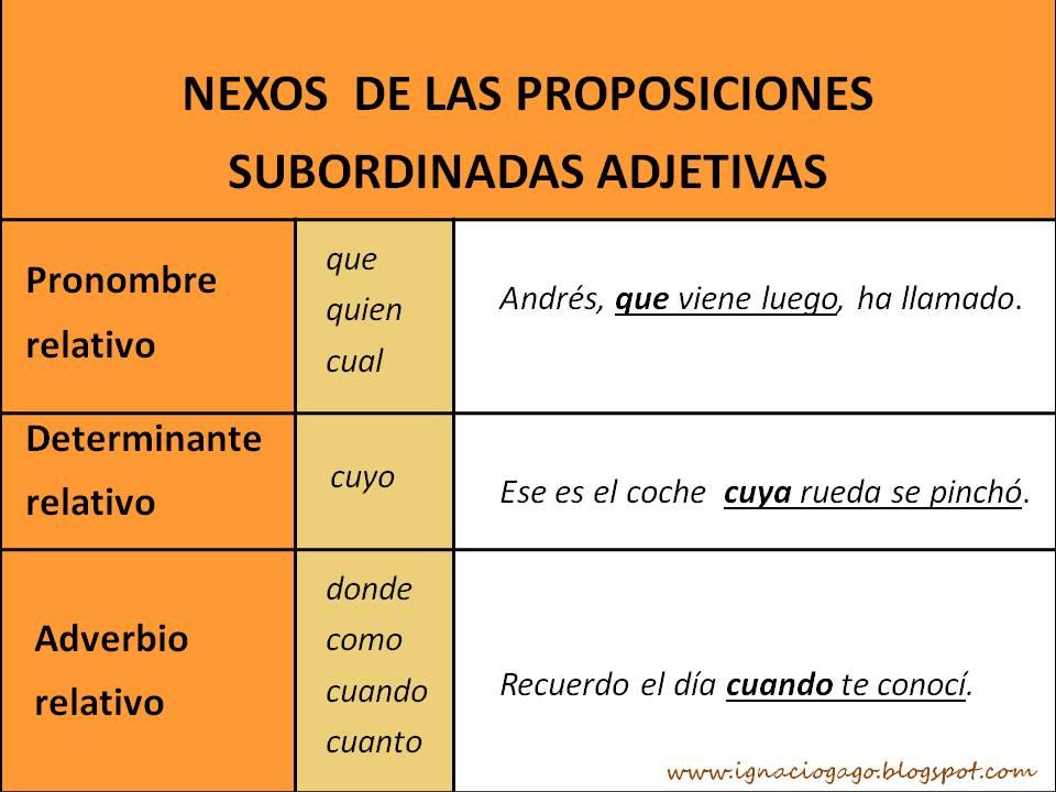 oraciones subordinadas adjetivas sustantivadas ejercicios pdf