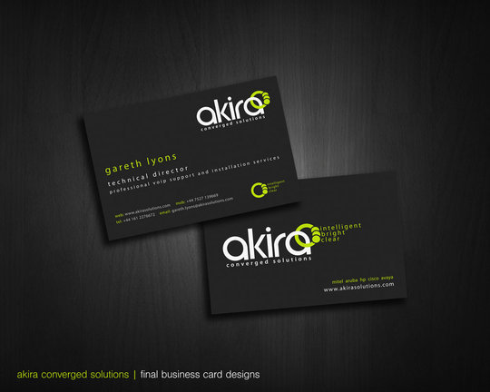 Business Card Design: daan-rutgers - akira business cards render