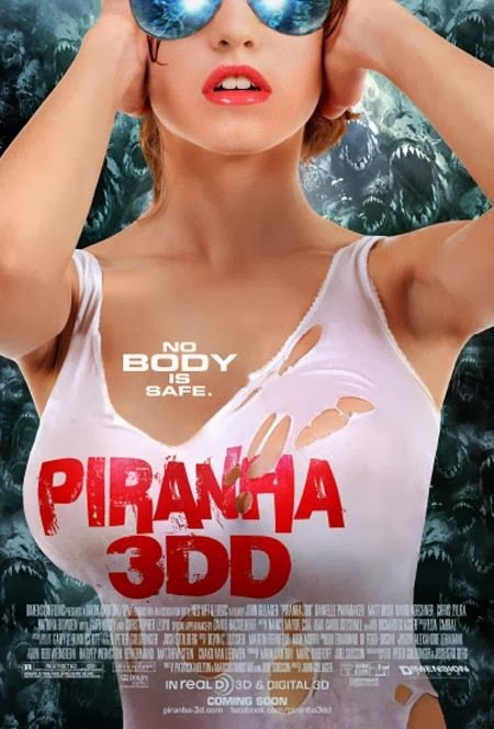 Poster Of Piranha 3DD (2012) Full Movie Hindi Dubbed Free Download Watch Online At Alldownloads4u.Com