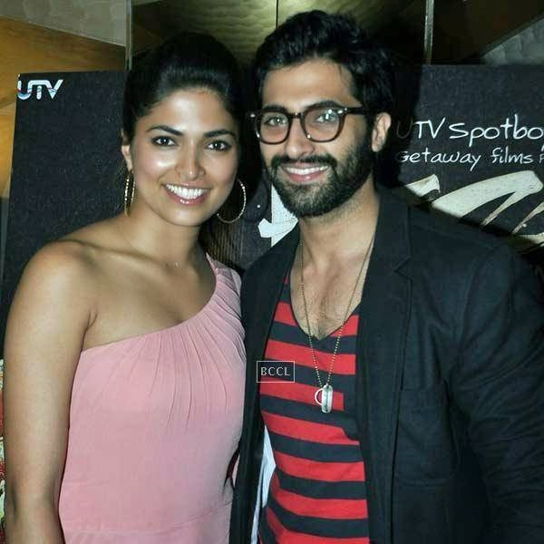 Parvathy Omanakuttan and Akshay Oberoi at the premiere of Bollywood movie Pizza, held at PVR in Mumbai, on July 17, 2014.(Pic: Viral Bhayani)