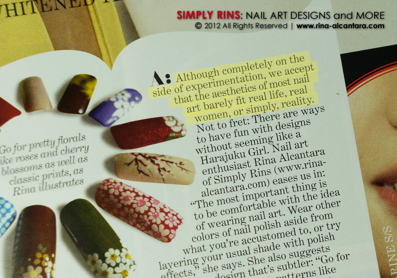 Preview April 2012 Nail Art Article