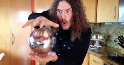 Truque de magia da esfera flutuante