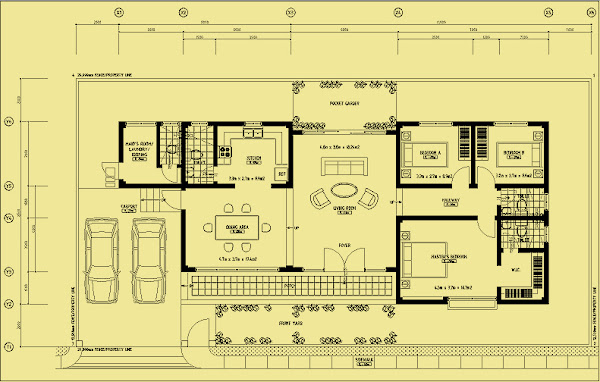 Bungalow Single Detached Floor Plan