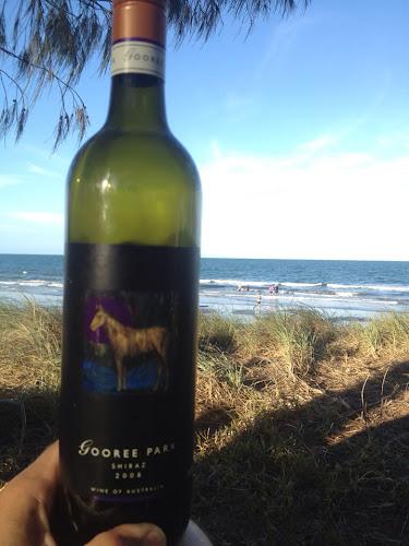 Enjoying Mudgee wine at Woodgate