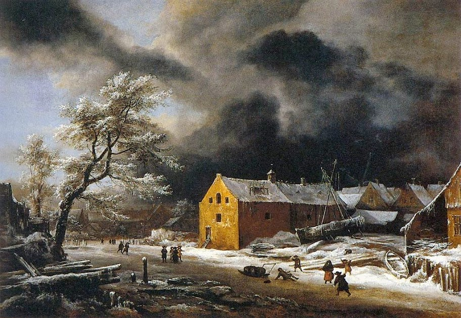 Jacob van Ruisdael - Winter Landscape