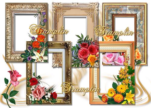 5 Рамок для фото – Цветы и классика
