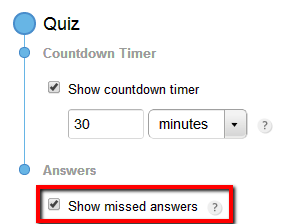 show missed answers for ></p> <p style=