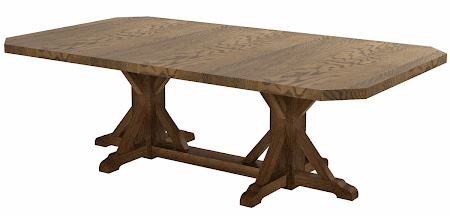 """80"""" x 46"""" Alexandria Conference Table in Rustic Oak, Click for a Larger Photo."""