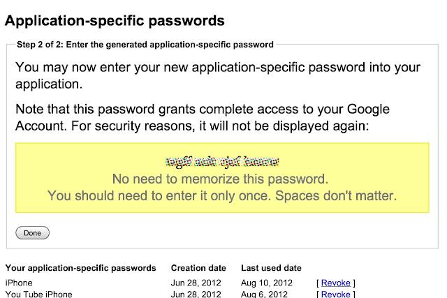 Google 2-step verification wizard