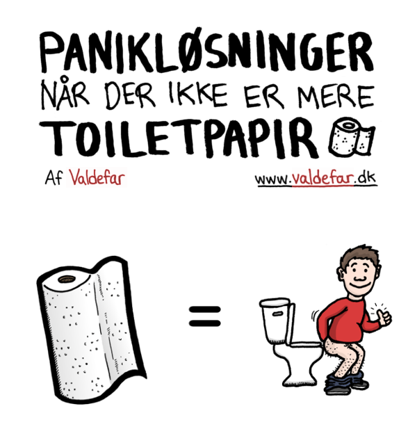 Fuck, der er ikke mere toiletpapir