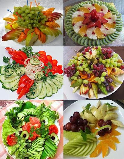 фото красивая нарезка из овощей