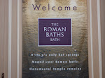 The sign to the Roman Baths