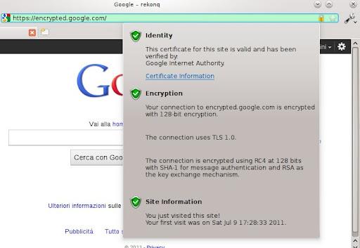 SSL widget
