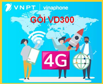 Nhận ngay 100 phút gọi ngoại mạng, hàng triệu phút gọi nội mạng, 11 GB gói VD300 của Vinaphone