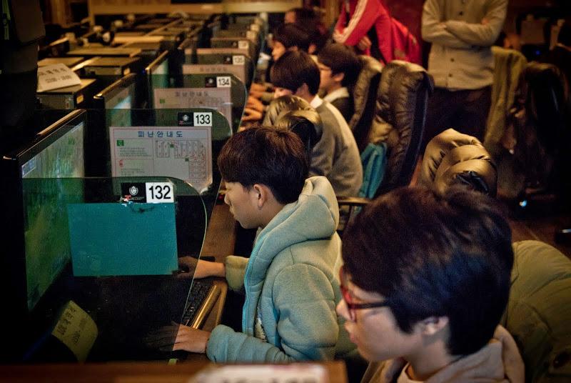 Korea -- w kafejce internetowej..