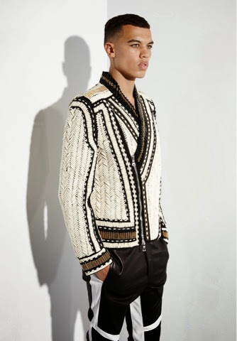 Men Fashion Balmain SS 14 - Beaded Jacket