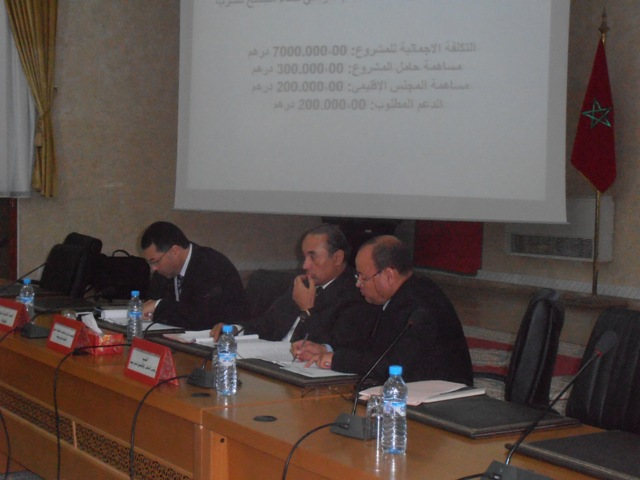 اللجنة الإقليمية للتنمية البشرية تصادق على  مشاريع المبادرة الوطنية بعمالة إقليم تيزنيت